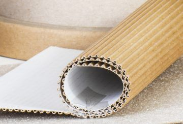 Corrugated single faced paper for industry packaging